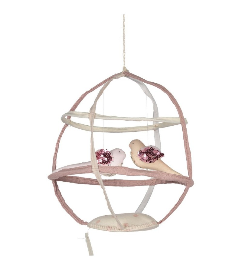 Mobile cages oiseaux fait main par tamar mogendorff la for Cage a oiseaux deco