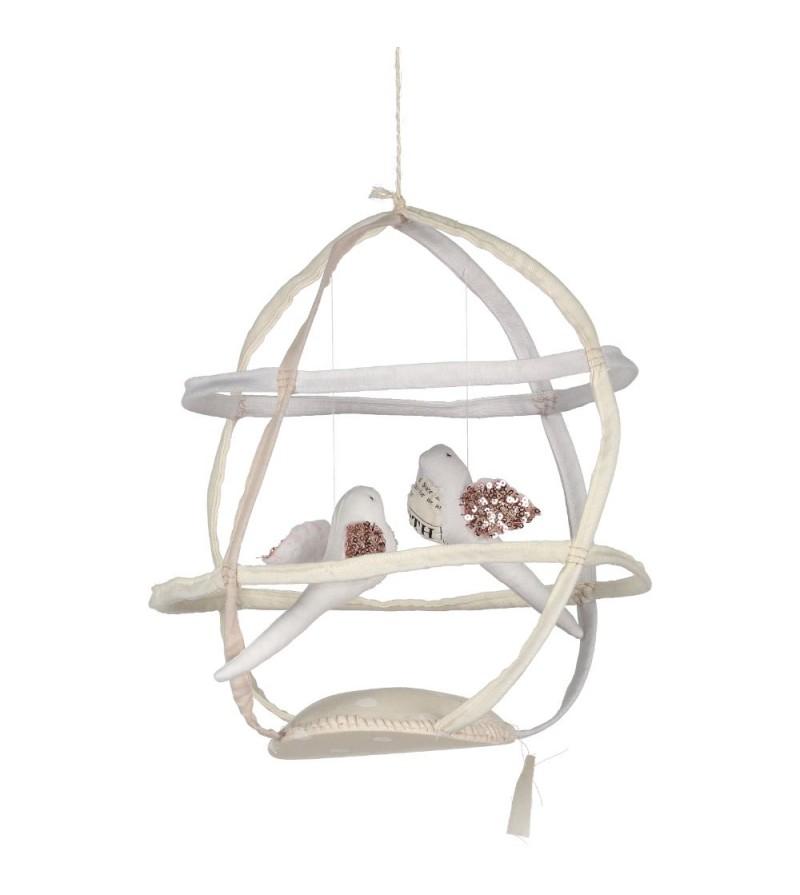 mobile cages oiseaux fait main par tamar mogendorff la. Black Bedroom Furniture Sets. Home Design Ideas