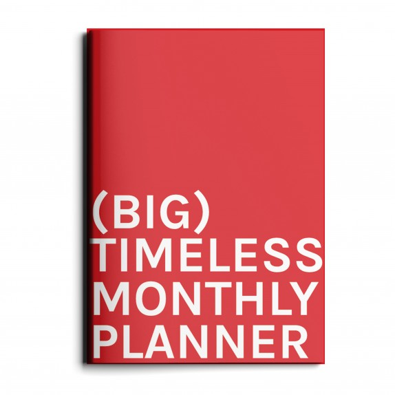 Timless monthly planner