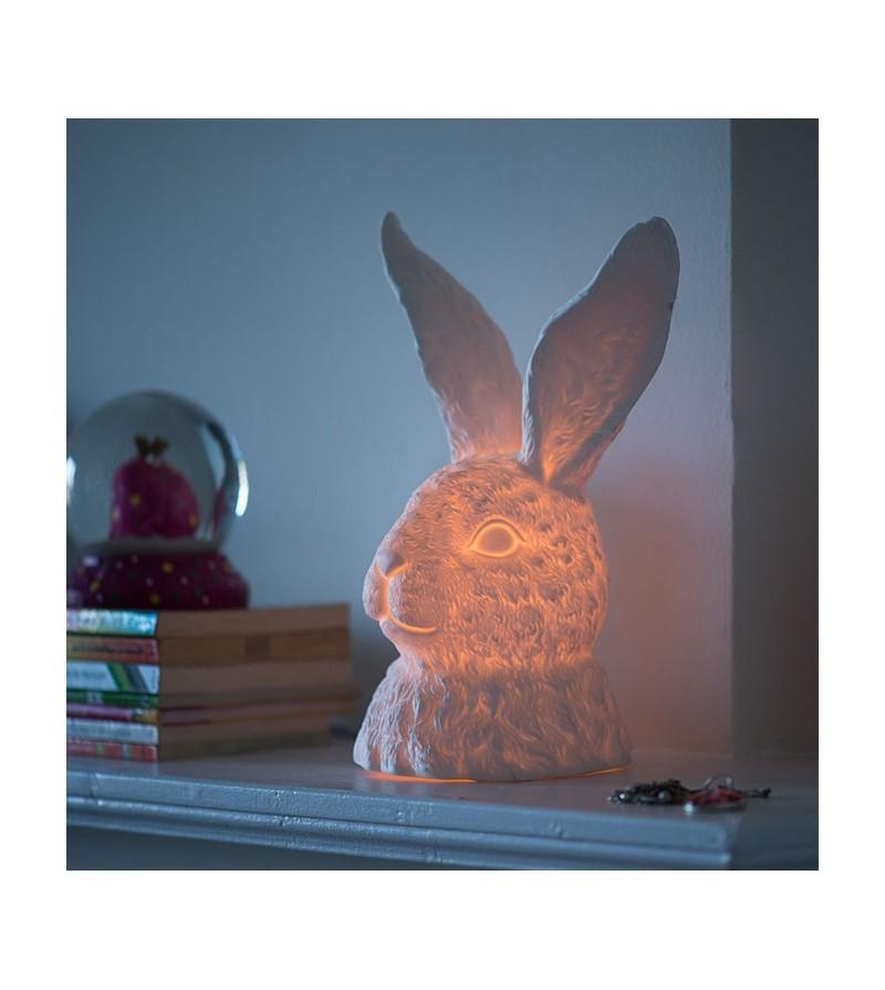 Rabbit Porcelain Table Lampe Zangra La Langerie