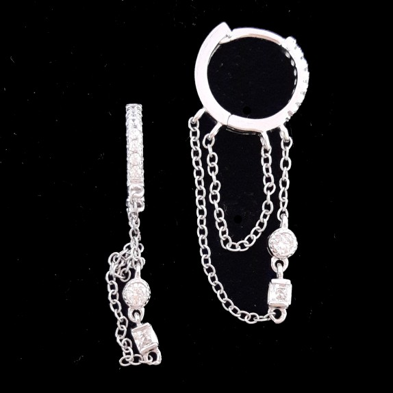 Hoop Earring with samll chain