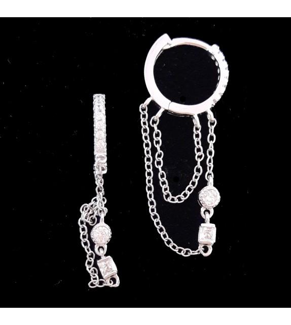 Hoop Earring with samll chain