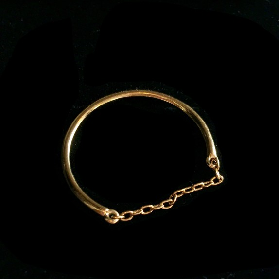 Fine ring and Gold Chain