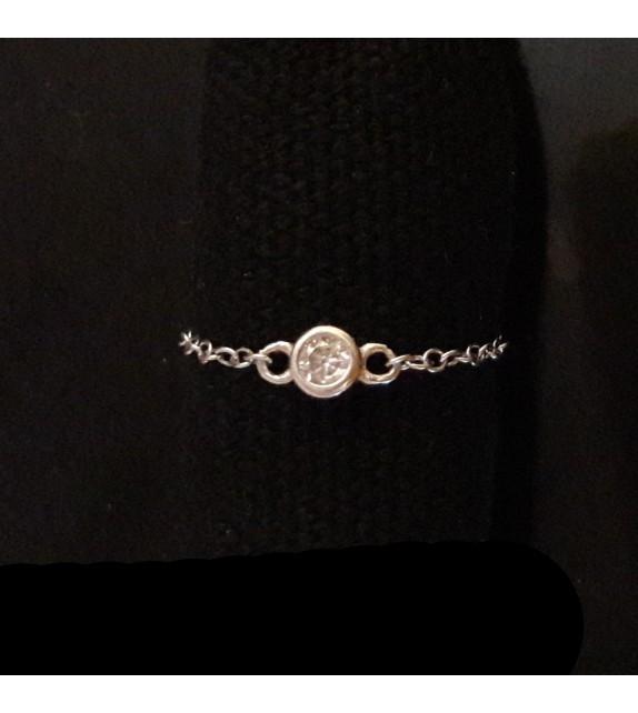 Chain Ring & Swarovski pendant