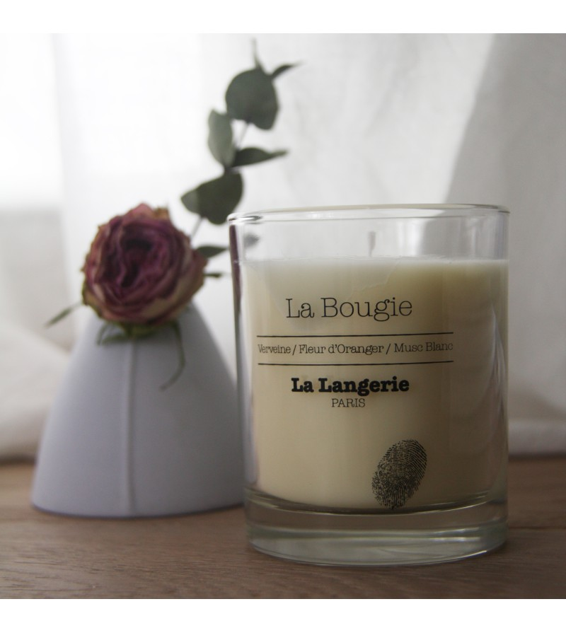 la bougie parfum e verveine fleur d 39 oranger musc blanc la langerie. Black Bedroom Furniture Sets. Home Design Ideas