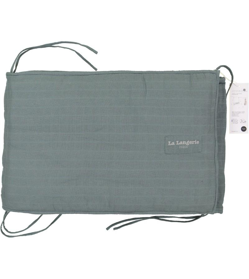 Tour de lit ajustable en coton biologique certifi gots la langerie - Tour de lit coton bio ...