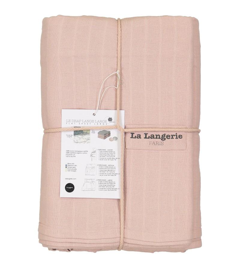 Drap plat 300x240cm lange coton biologique certifi gots - Difference entre drap plat et housse de couette ...